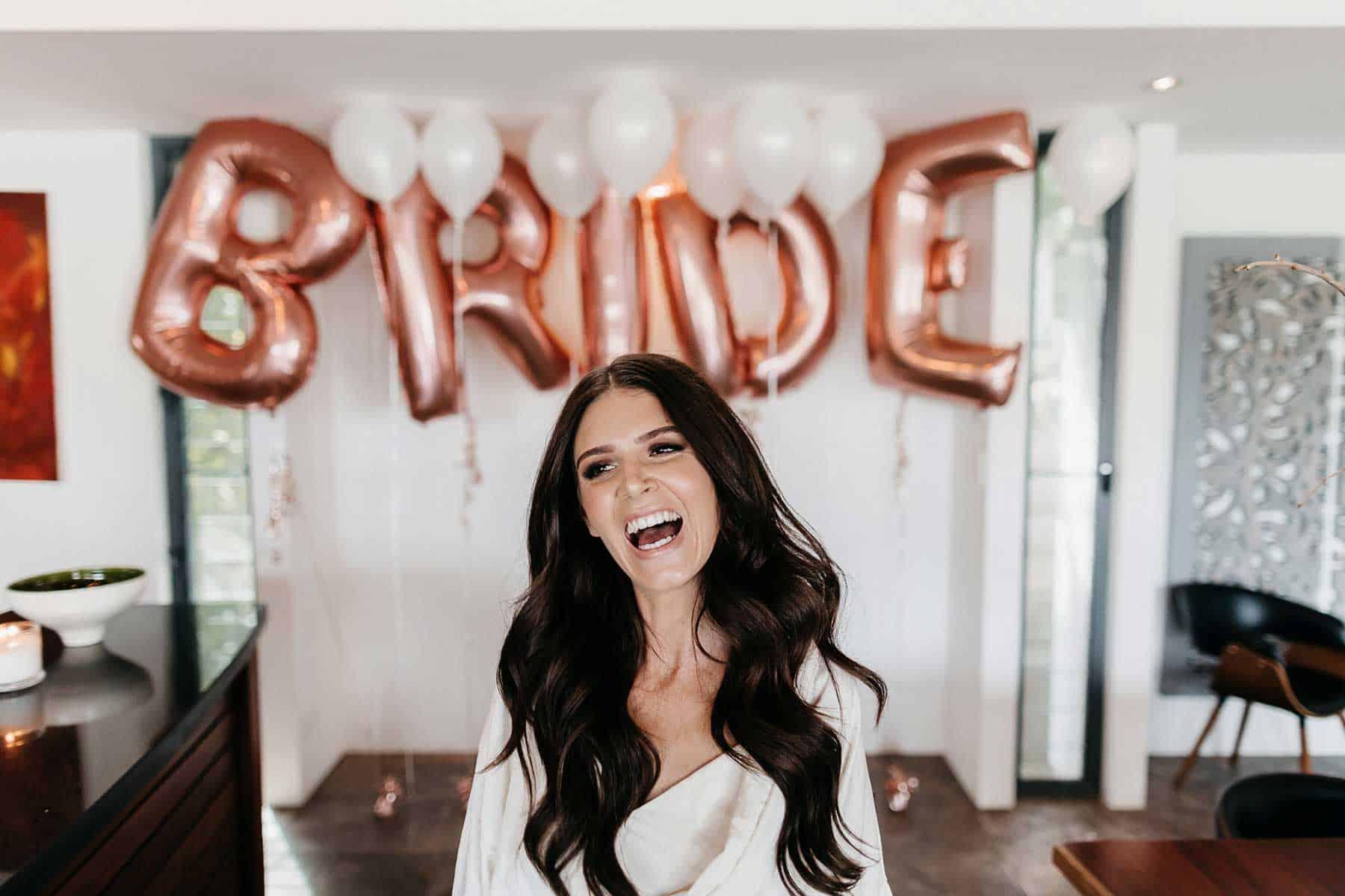bride letter balloons