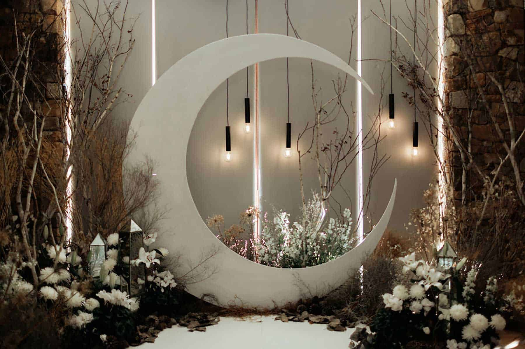 cresent moon wedding arbour