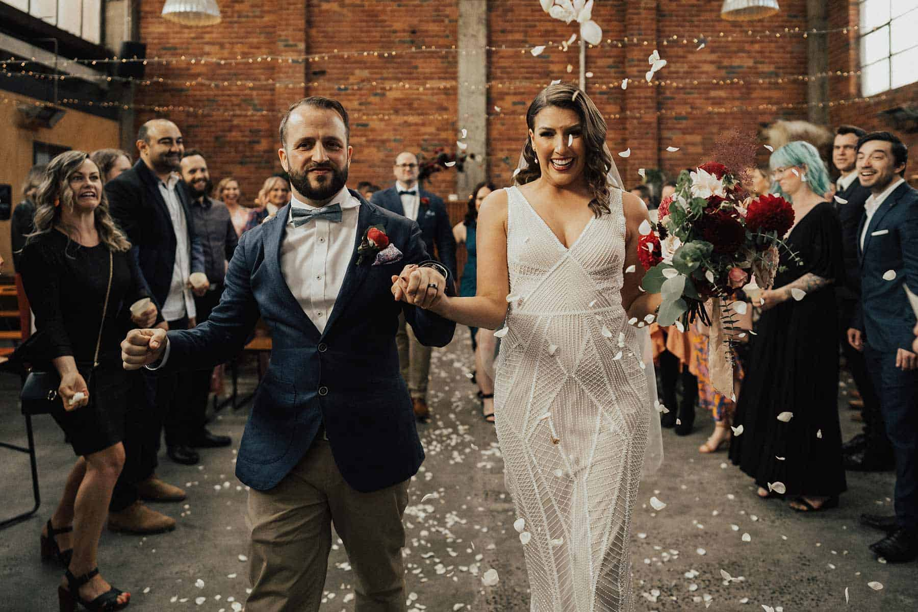 industrial Mlebourne wedding at Mountain Goat Brewery