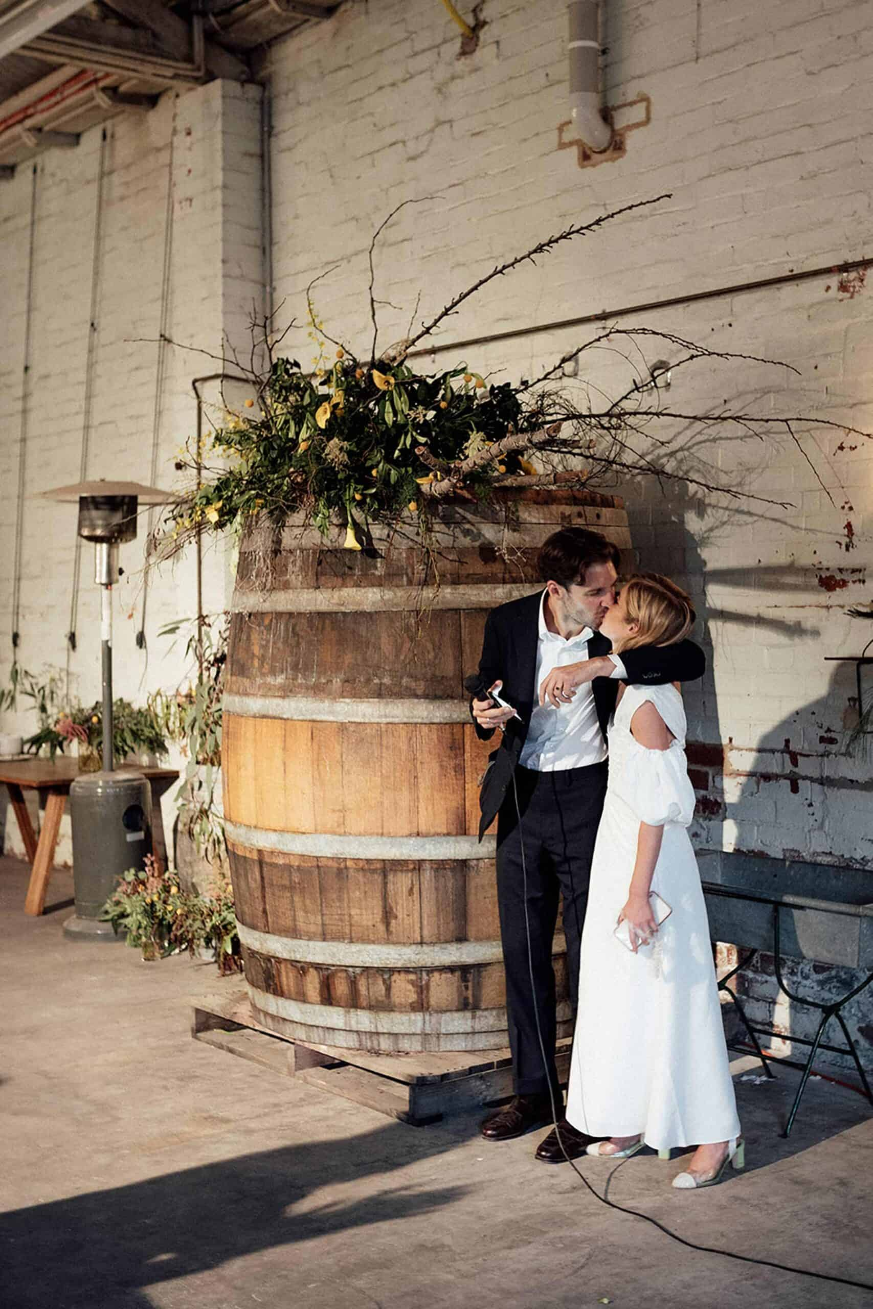 Industrial Castlemaine wedding at Boomtown Winemakers