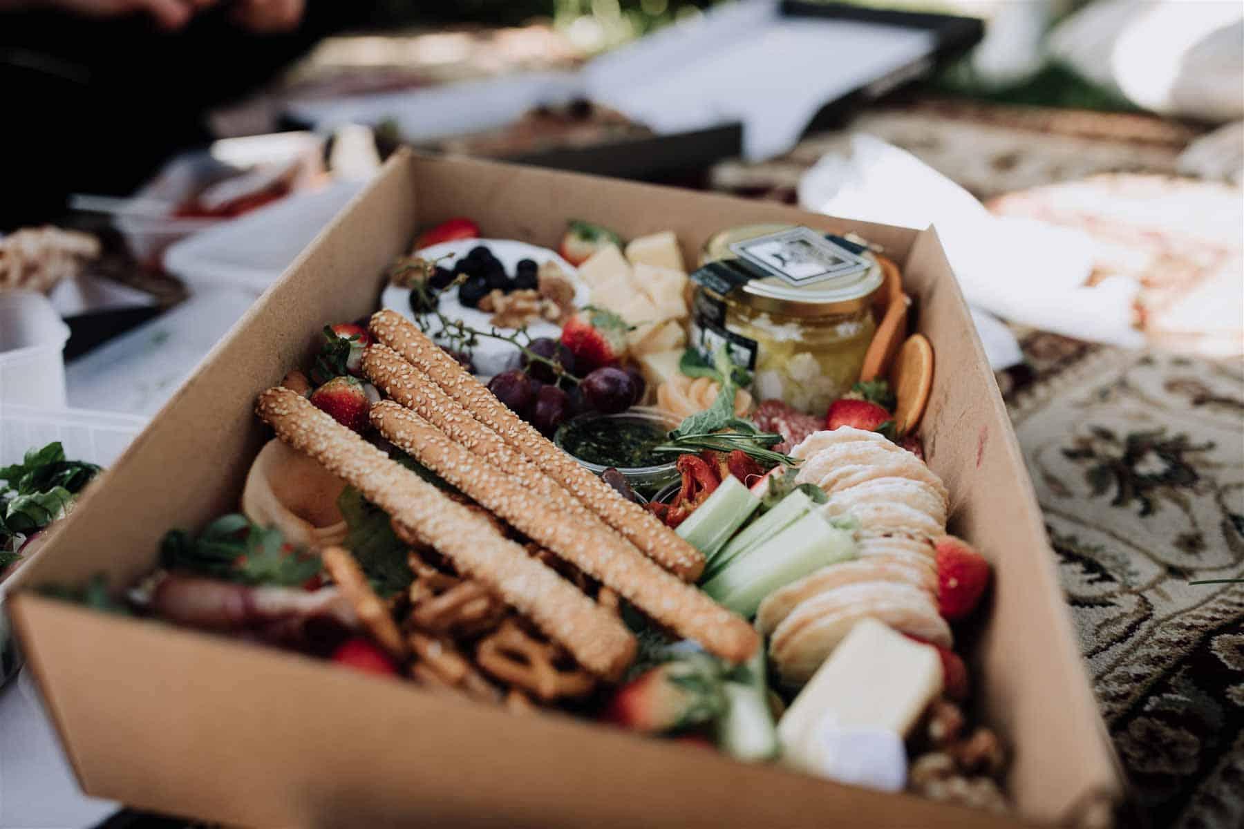 pizza picnic elopement wedding