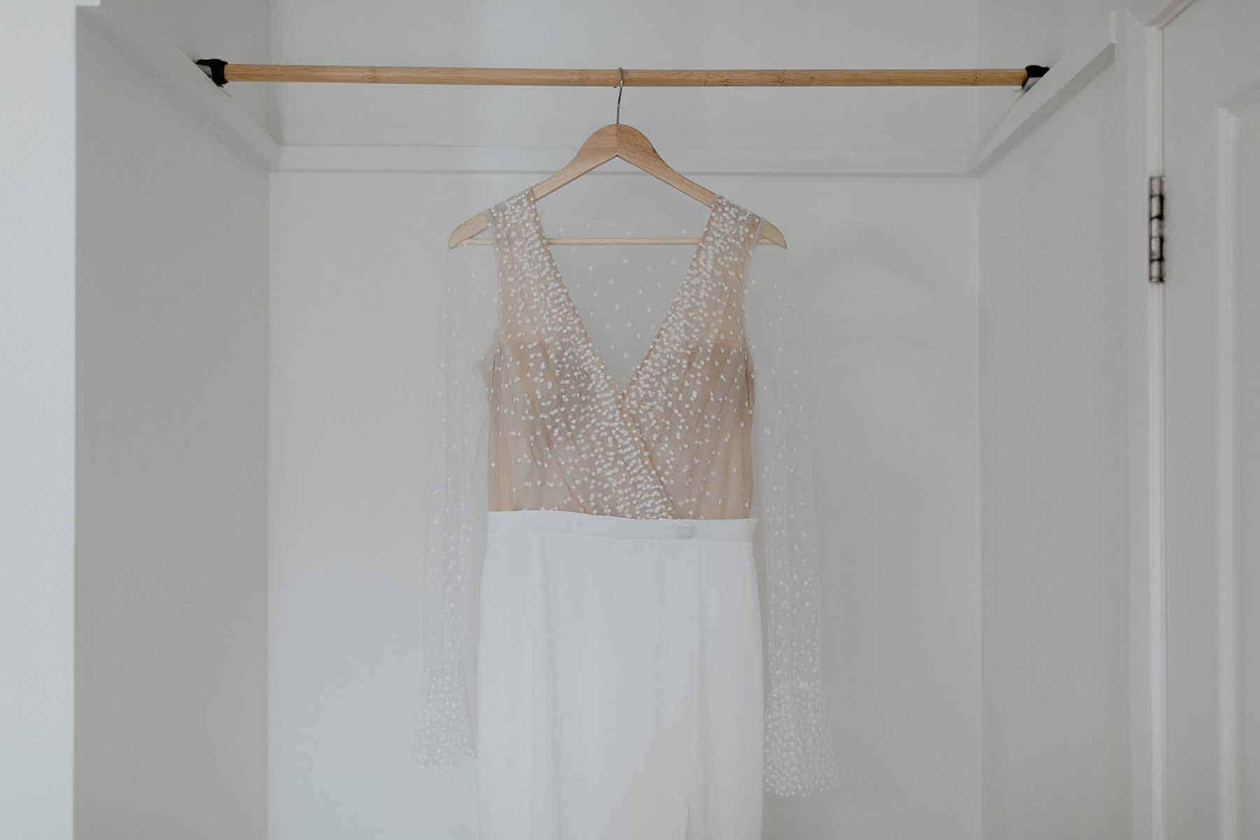 Rime Arodaky pearl wedding dress