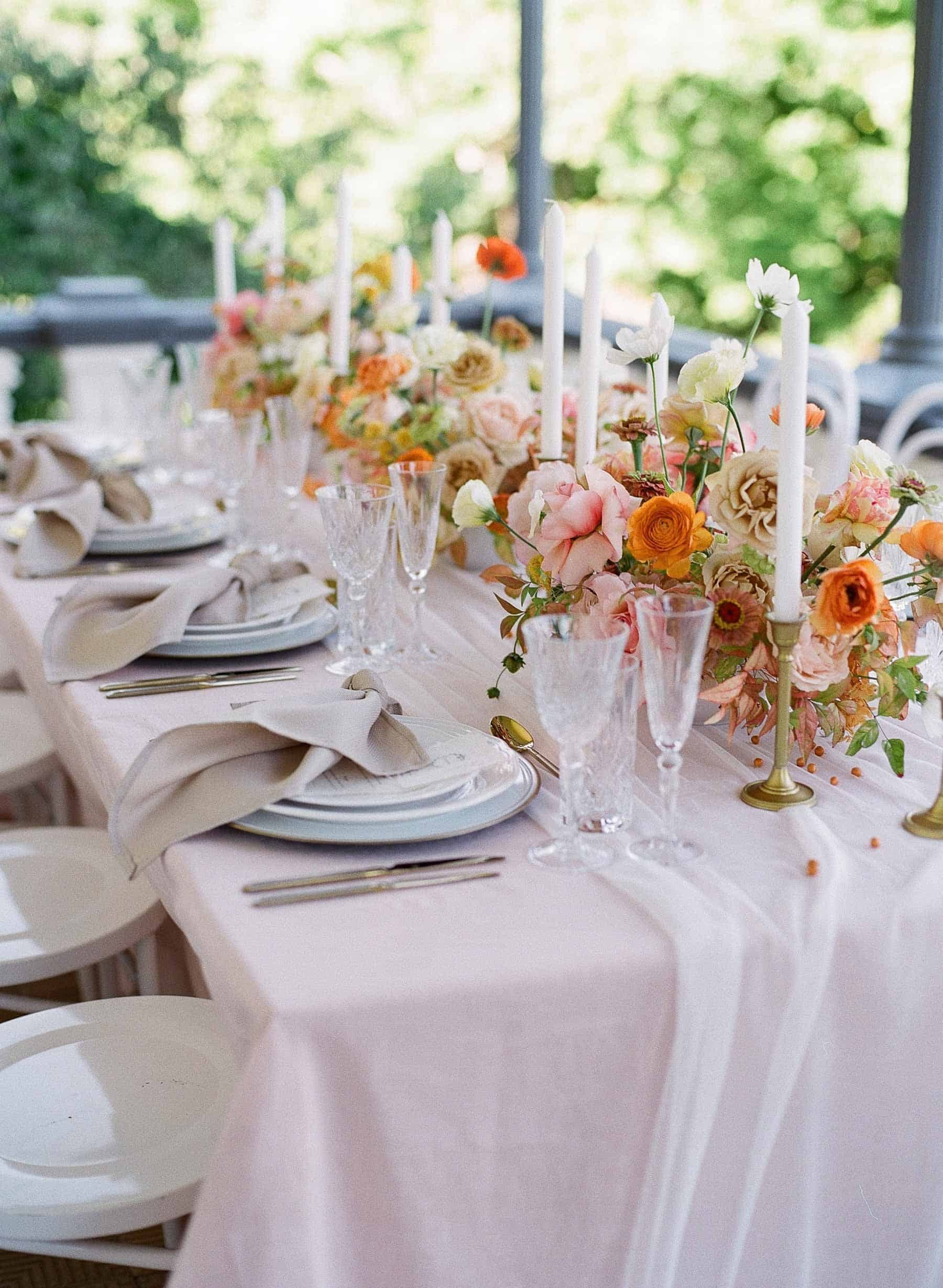 peach and pink wedding inspiration