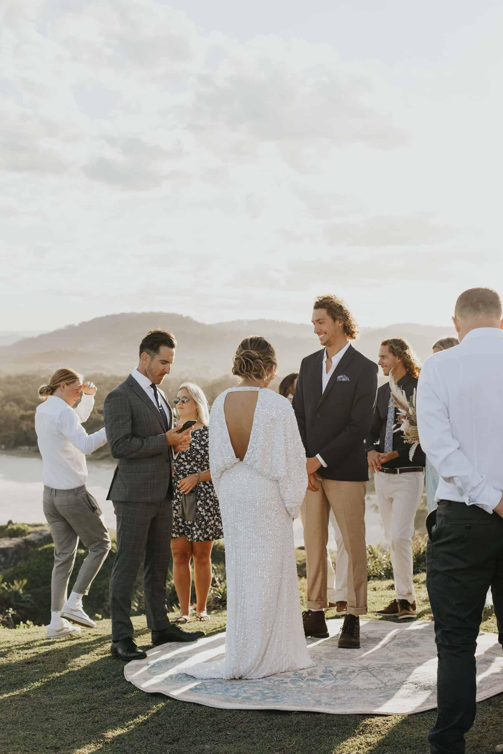 Modern Beach Boho Ceremony